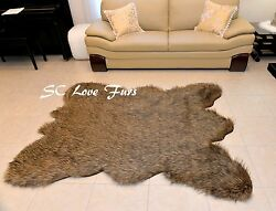 Grizzly Cali Bearskin Faux Fur Area Rug Christmas Special Lodge Cabin Home Decor