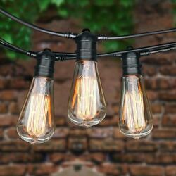 75 Foot Commercial Outdoor Patio String Lights - Set of 22 ST64 40w Edison Bulbs