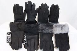 REAL GENUINE SHEEPSKIN SHEARLING LEATHER GLOVES UNISEX Fur Winter MITTENS S 2XL $21.90