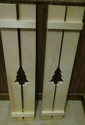 *MADE IN MAINE* Homemade Rustic Pine Shutters Camp Cabin Primitive Wood