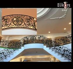 THE BEST HAND MADE WROUGHT IRON VICTORIAN STYLE ESTATE STAIRCASE RAILING - RK1