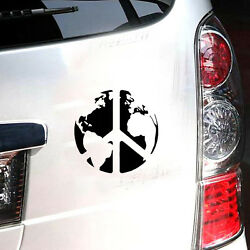 Black Peace On Earth Decal Vinyl Home Decor Wall Hippie Sticker For Car Truck