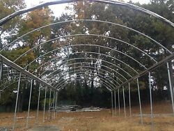 Arch Roof Gutter Poly Connected Commercial Greenhouse XS Smith Man. 3024 Sq. Ft.