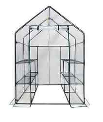 Mini Greenhouse Portable Walk In With Shelves Outdoor Garden Seed Starter