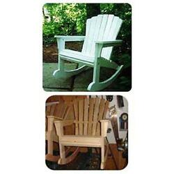 Woodworking Project Paper Plan to Build Rocking Adirondack Chair