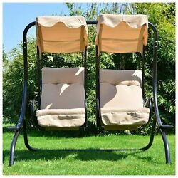 Patio Furniture Swing Outdoor Yard Double Canopy Covered Summer Relax Sit Sun