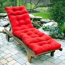 Lounge Chair Cushion Outdoor Seat Padding Tufted Chaise Mattress Pool Patio Deck