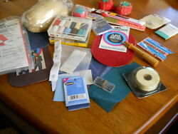 14 +++ Variety Sewing Supplies--Pin Cushions-Shoulder Pads-Patches-Mender