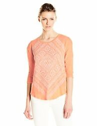 Lucky Brand Women's Burn Out Scarf Tee - Choose SZColor