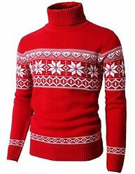 H2H Mens Casual Turtleneck Slim Fit Pullover Sweaters W Twist Patterned