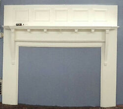 Vintage ANTIQUE Fireplace Mantel Refinished White GORGEOUS