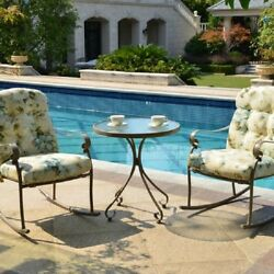 Rocking Chair Cushion Set Bistro Outdoor Patio Table Rocker 3 Pieces Furniture