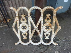 C 1890 VINTAGE antique METAL porch RAILING section victorian GOTHIC design 23
