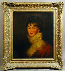 European 19th Century Victorian Oil Painting of Beautiful Woman Portrait $3000.00
