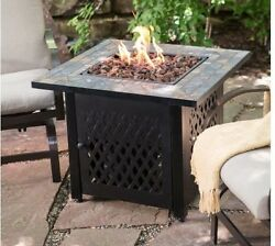 Fire Pit Table Propane LP Gas Patio Heater Outdoor Fireplace Backyard Furniture
