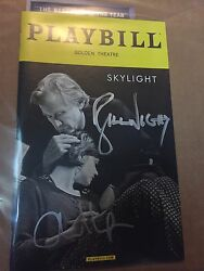 Skylight Signed Playbill Bill Nighy Carey Mulligan