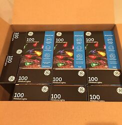 GE Multi-Color Mini String Lights Indoor Outdoor 100 Count Christmas Lot of 17