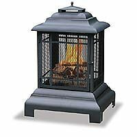 BLRN-WAF501CS-Uniflame Black Firehouse With Protective Cover Large