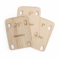 StewMac Neck Shims for Guitar Shaped Set of 3 $35.04