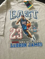 VTG 2008 MAJESTIC LEBRON JAMES ALL STAR GAME T-SHIRT GREY CAVALIERS NBA Store XL