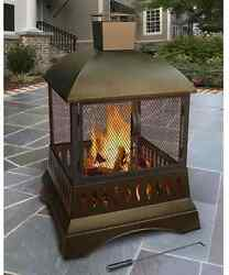 New Landmann Grandezza Luxury Wood Burning Outdoor Fireplace Free Shipping
