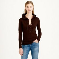 NWT JCrew Collection Cashmere Getaway Hoodie black(not the color in picture) m