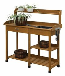 Potting Table Bench Sink Storage Patio Lawn And Garden Outdoor Bar Furniture