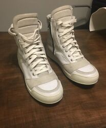 Balmain Original Main Line High Tops In Leather &Suede Size 41 Or 8US MSRP $1100