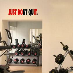 Fitness Wall Decals. Gym. Exercise: Just Don#x27;t Quit $15.99