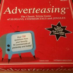 ADVERTEASING Game of Slogans Commercials & Jingles TV TRIVIA BOARD GAME New $16.66