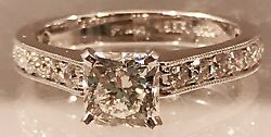 DREAM Hearts On FIRE Diamond Platinum & 18K white gold Engagement Ring  Size 6