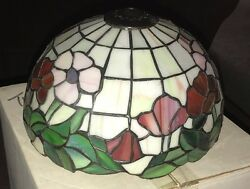 Tiffany Reproduction Stained Glass Lamp Shade Poppy 10quot; Hand Made U.S.A. $499.95
