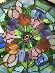 Tiffany Reproduction Stained Glass Lamp Shade Tulip 7x9 Hand Made U.S.A. $399.95