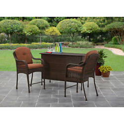 Patio Furniture Sets Clearance 3 Piece Wicker Bar Height Set Modern Outdoor New