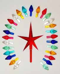 50 Replacement Large Ceramic Christmas Tree Large Twist Light Bulb amp; Star Choice $13.96