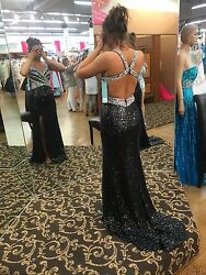 Sean Collection Black Prom Dress
