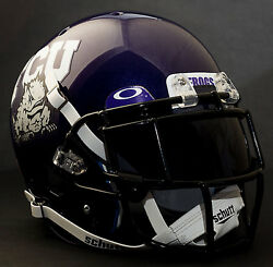 TCU HORNED FROGS NCAA Schutt XP Gameday REPLICA Football Helmet wEGOP wOAKLEY