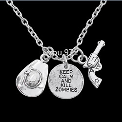 The Walking Dead RICK Creative Necklace High Quality Sweater Chain Alloy Pendant