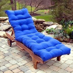 Lounge Chair Cushion Outdoor Seat Tufted Padding Mattress Chaise Pool Patio Deck