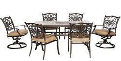 Rectangular Patio Dining Set Outdoor Garden Kitchen Furniture Table Chair 7 Pcs
