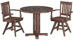 Patio Dining Set Outdoor Garden Home Kitchen Furniture Table and Chairs 3 Piece