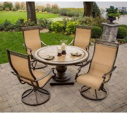 Patio Dining Set Outdoor Garden Home Kitchen Furniture Table and Chairs 5 Piece