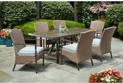 Patio Dining Set Outdoor Garden Home Kitchen Furniture Table and Chairs 7 Piece