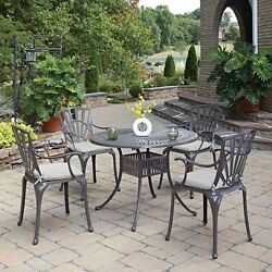 atio Dining Set Outdoor Garden Home Kitchen Furniture Table and Chairs 5 Pieces