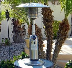 AZ Patio Heaters HLDS032-B Portable Table Top Stainless Steel Patio Heater
