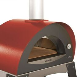 Alfa Pizza 27.5 in. x 15.75 in. Outdoor Wood Burning Pizza Oven in Red