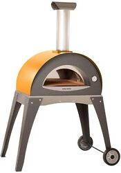 Alfa Pizza 27.5 in. x 15.75 in. Outdoor Wood Burning Pizza Oven in Yellow