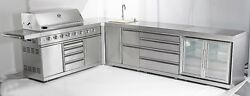 outdoor stainless steel kitchen barbeque