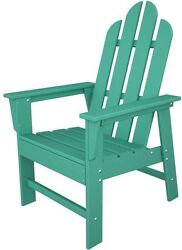 Patio Dining Arm Chair Outdoor Resin UV Protected Home Decor Furniture Green