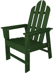 Patio Dining Chair Indoor Outdoor UV Protected Resin Home Decor Furniture Green
